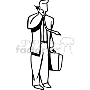 business man on the phone clipart. Royalty.