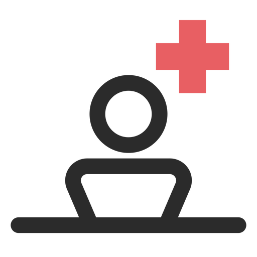 Patient colored stroke icon.