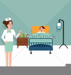 Clipart Patient In Bed.