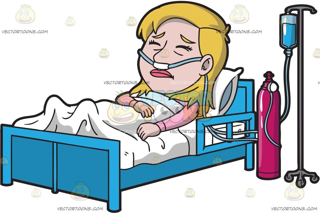 Cartoon Hospital Bed.