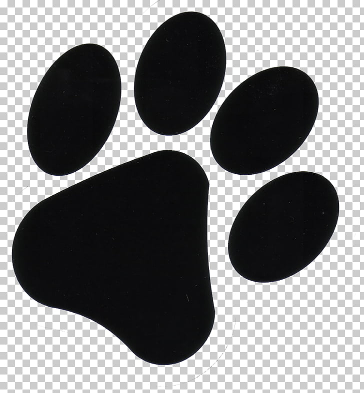 Ilustración de impresión de pata negra, huella de perro pata.