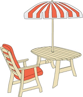 Clipart patio table picture.