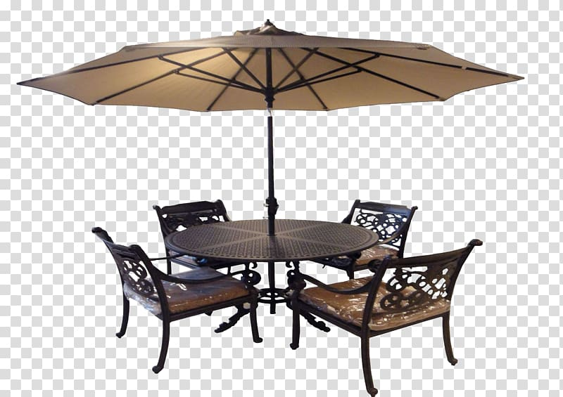 Table Chair Umbrella Garden furniture, Outdoor umbrella.