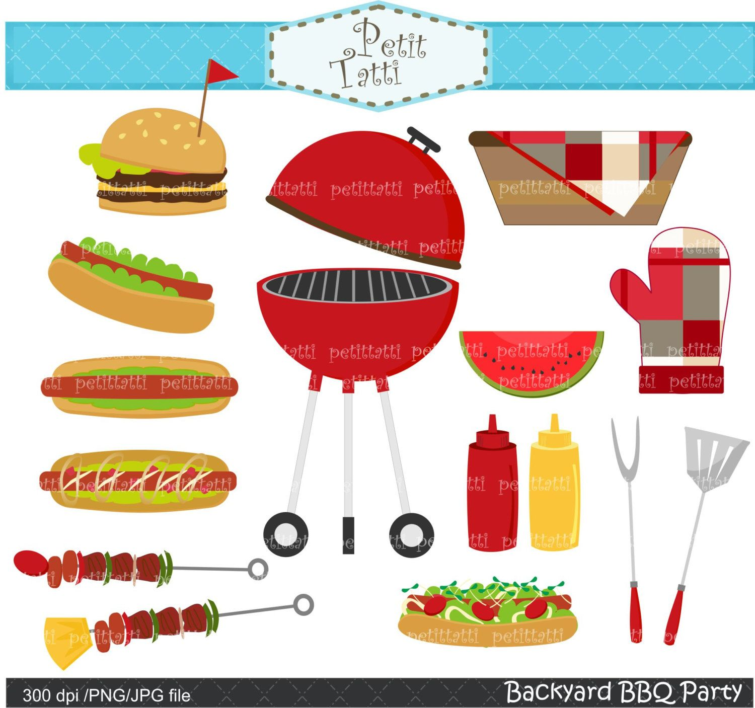 Grilling clipart patio party, Grilling patio party.