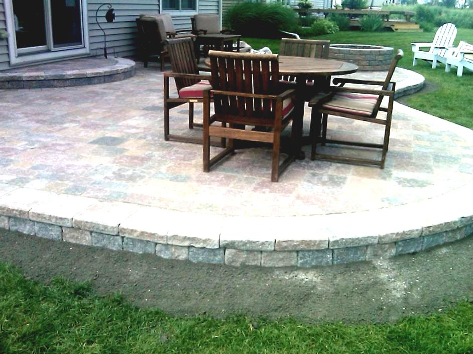 With Pavers Raised Paver Gardening Patio Design Bench Wallhome