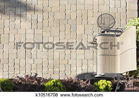 Pictures of Aerial View of Garden Paver Patio k10516708.