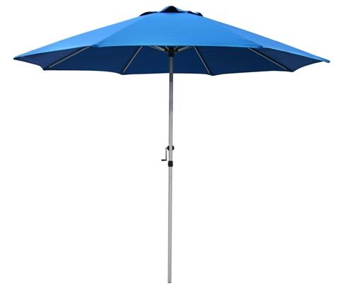 9′ Aluminum Commercial Patio Umbrella w/ Crank & Tilt.