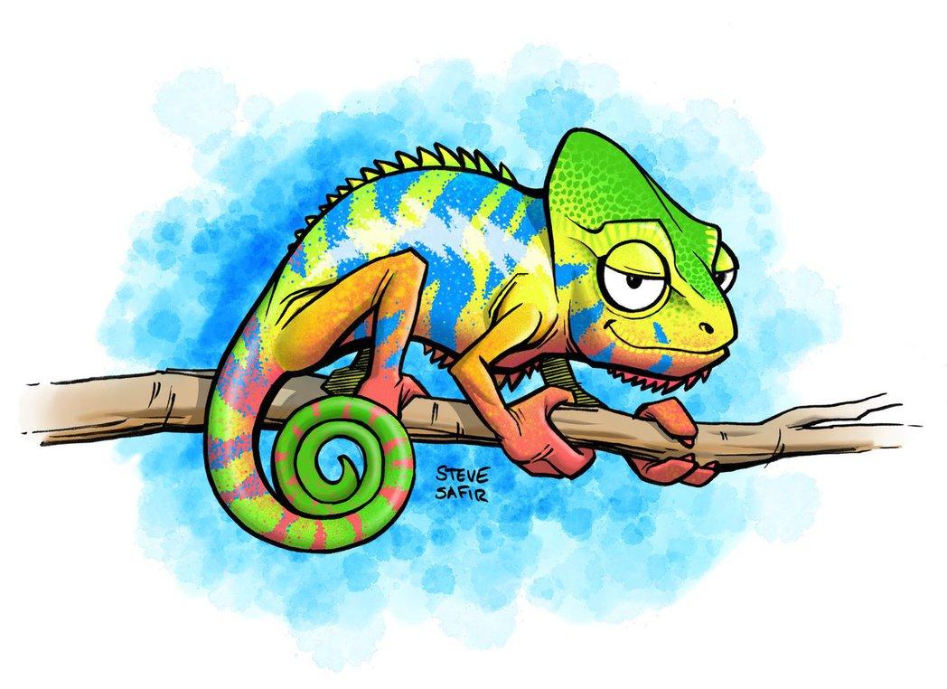 panther chameleon hanging out by stevesafir on DeviantArt.