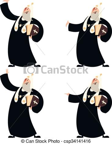 Vector Clip Art of Patriarch of the Orthodox Church.
