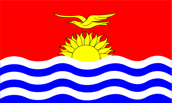 Kiribati Flag Patricia SVG Vector file, vector clip art svg file.