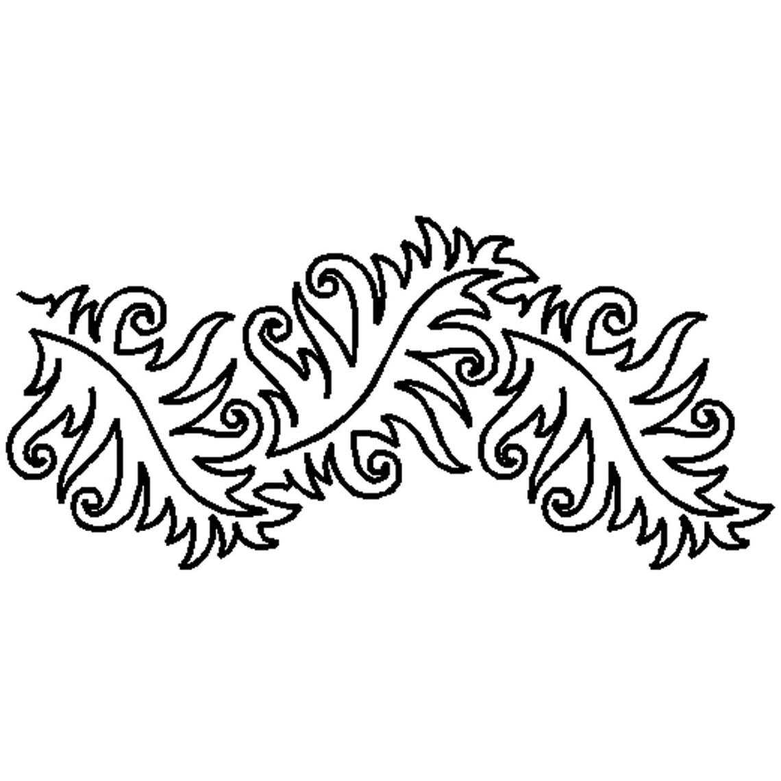 "7 1/2"" Fancy Leaf Corner Quilt Stencils By Patricia Ritter UE."