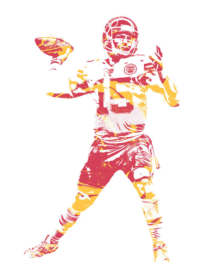 Patrick Mahomes Kansas City Chiefs Pixel Art 1.