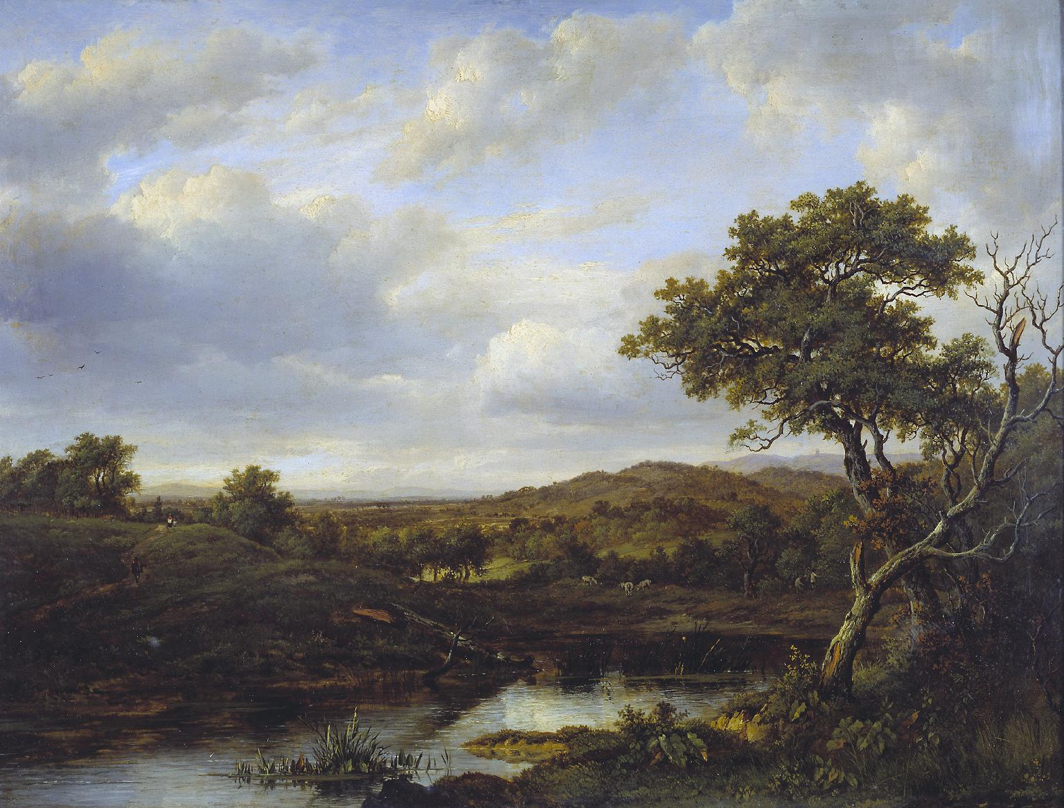 A Pond', Patrick Nasmyth, 1820.