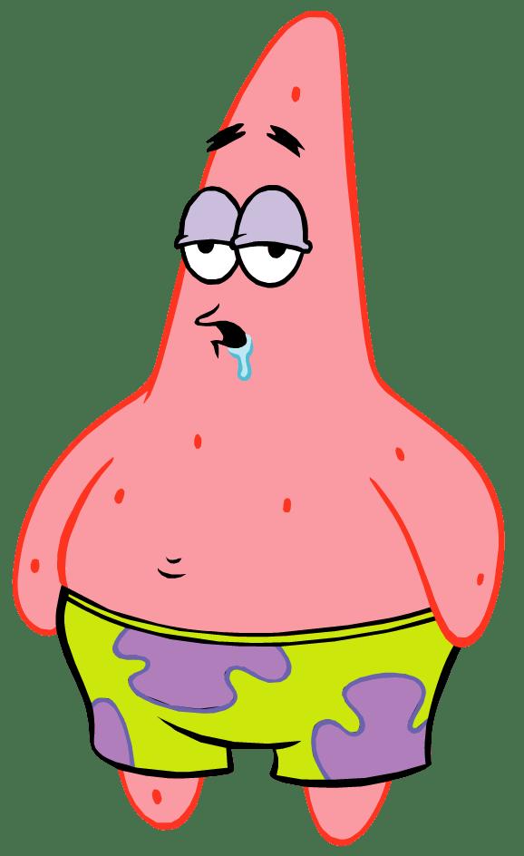 Patrick Star Spongebob Style transparent PNG.