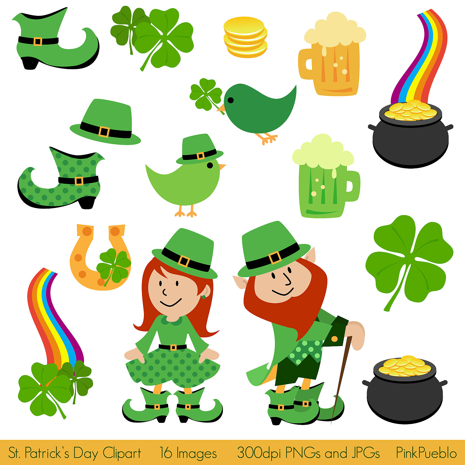 Kid st patrick day clipart.