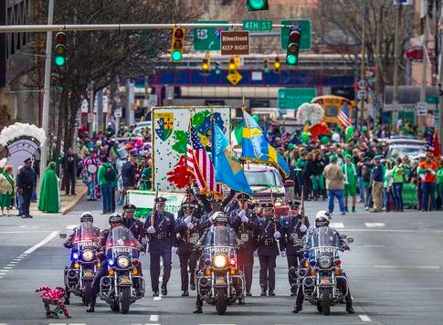 Wilmington Delaware\'s 2018 Saint Patrick\'s Day Parade.