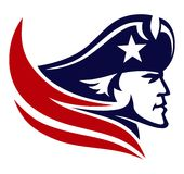 Patriot head clipart.