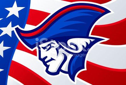 patriot head Clipart Image.