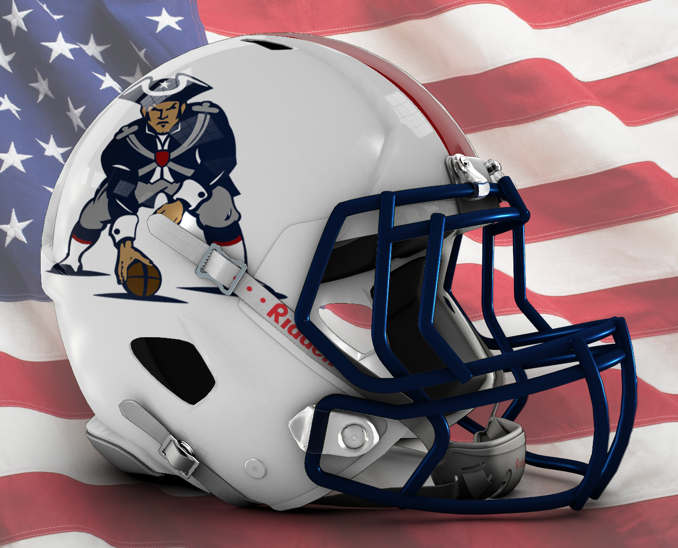 Updated Pat Patriot Helmet Idea : Patriots.