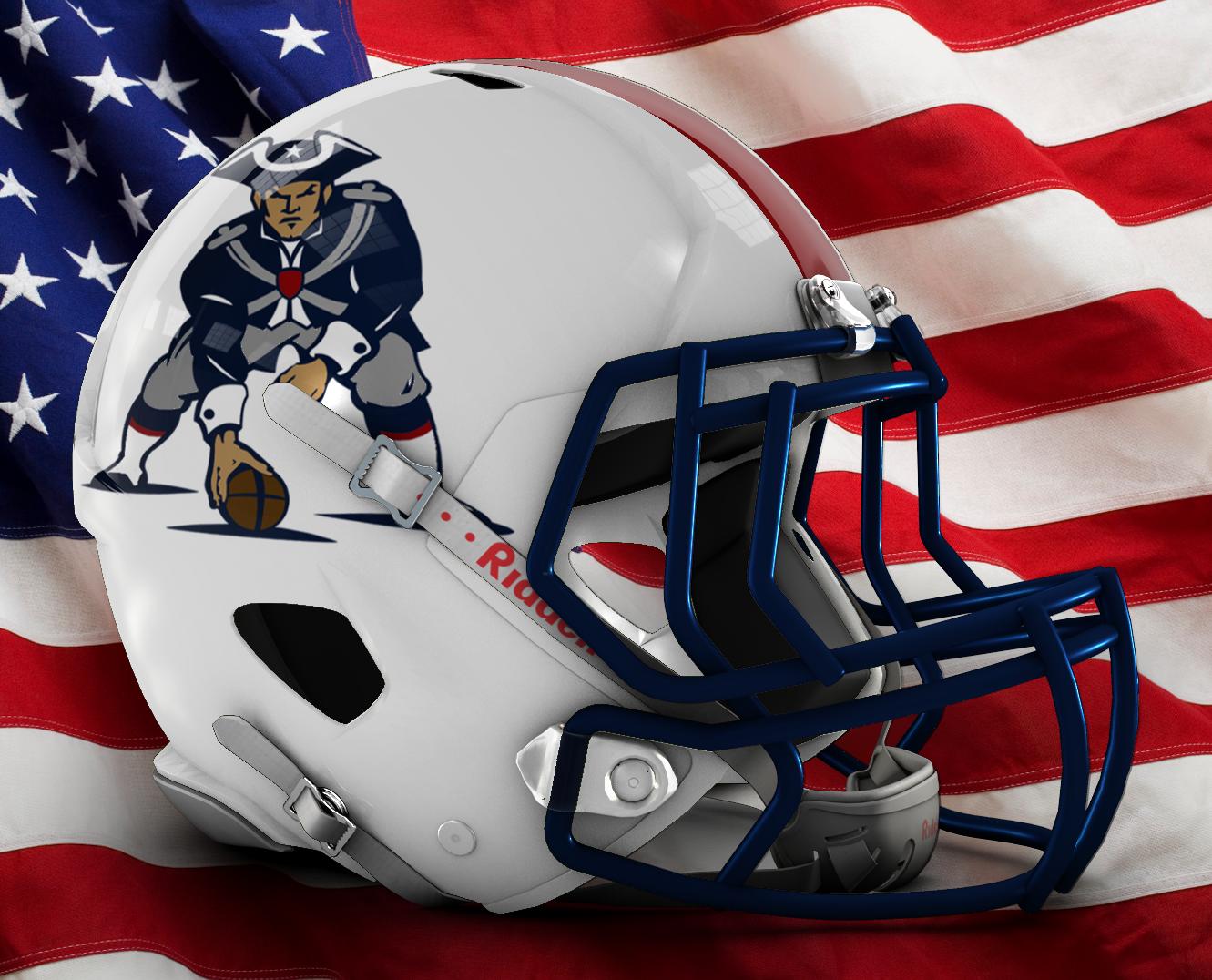Updated Pat Patriot Helmet Idea : Patriots.