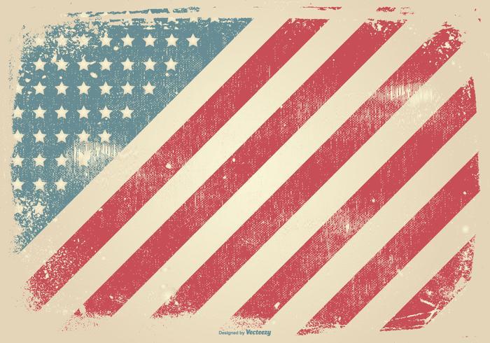 Grunge Style Patriotic Background.