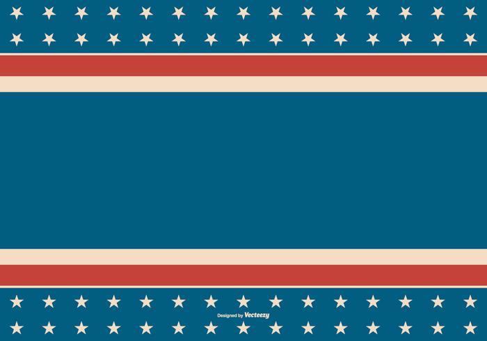American Retro Style Patriotic Background.