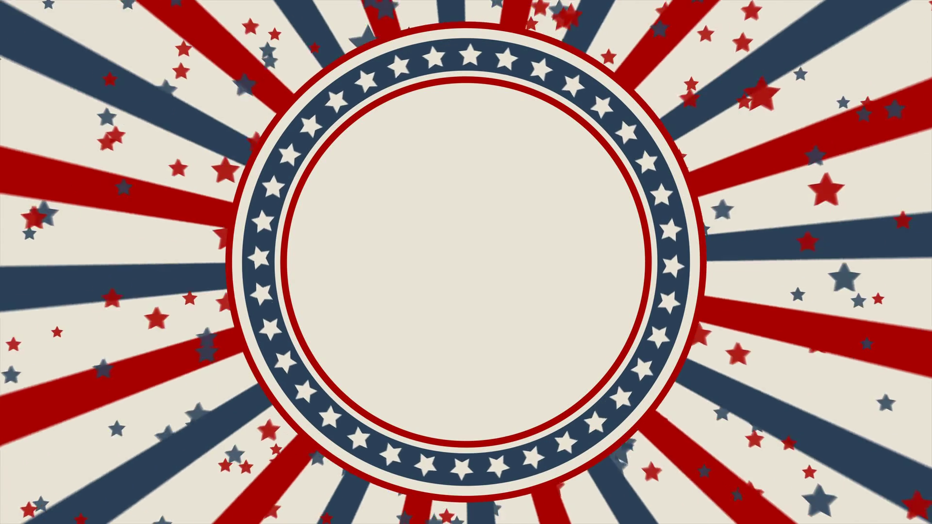 Vintage style American patriotic background. Looped animation Motion  Background.