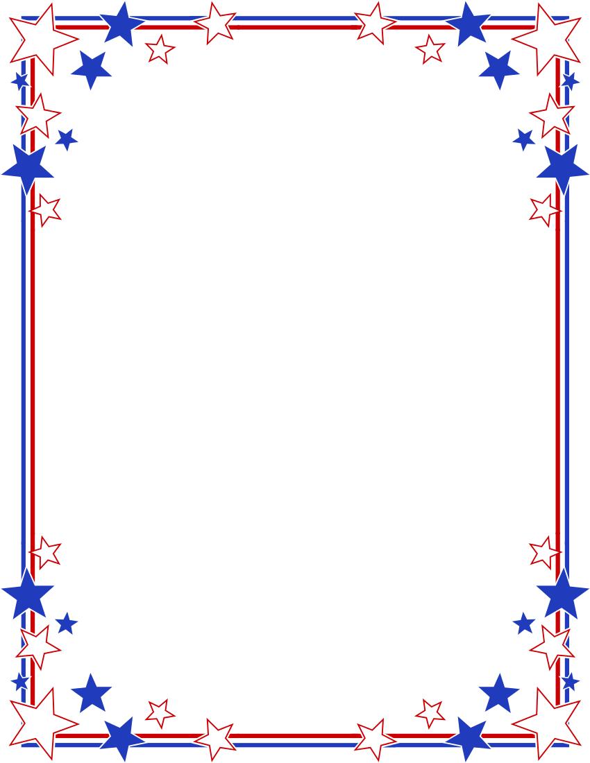 Free Patriotic Border, Download Free Clip Art, Free Clip Art.