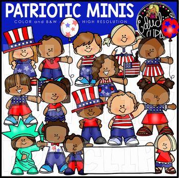 Patriotic Minis Clip Art Set {Educlips Clipart}.
