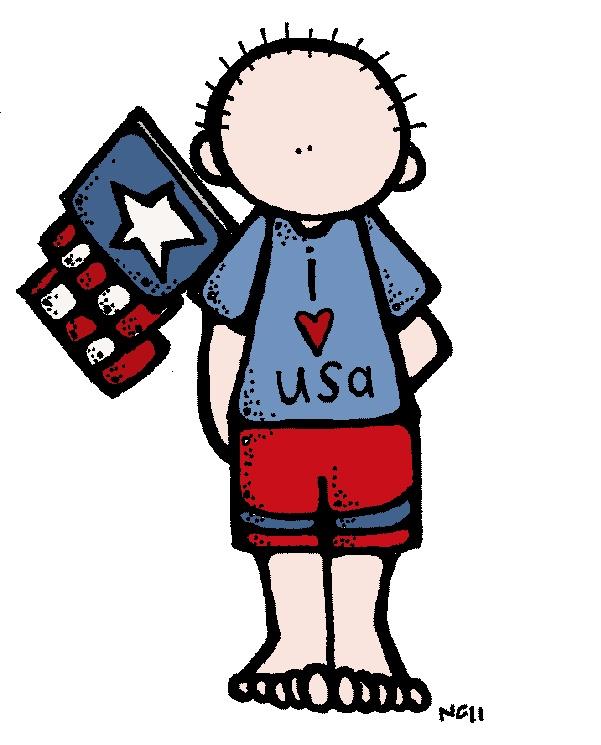 Patriotic Kids Clipart.