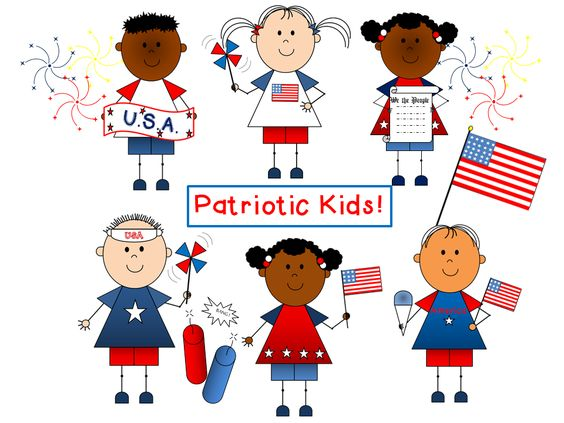 Patriotic Kids Clip Art {by Busy Bee Clip Art}.