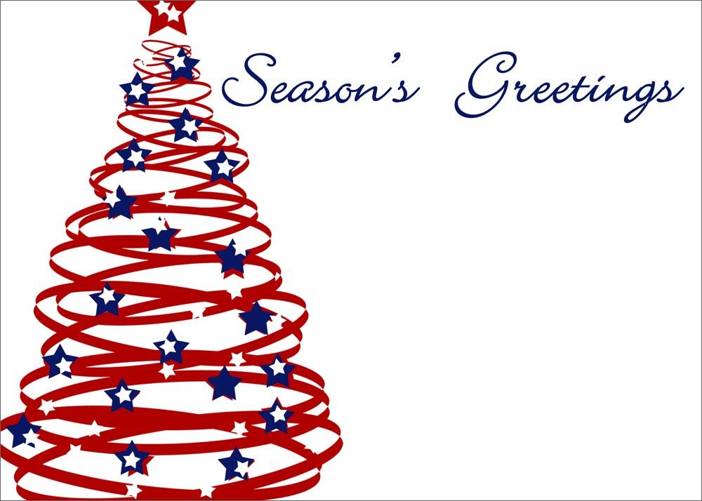 Patriotic Christmas Tree.