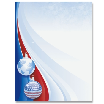 Patriotic Christmas Border Papers.