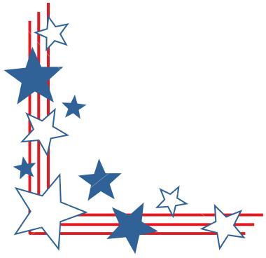 Patriotic clip art borders.