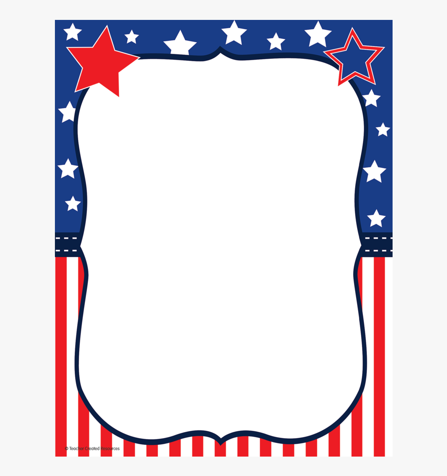 Free Patriotic Borders For Papers.