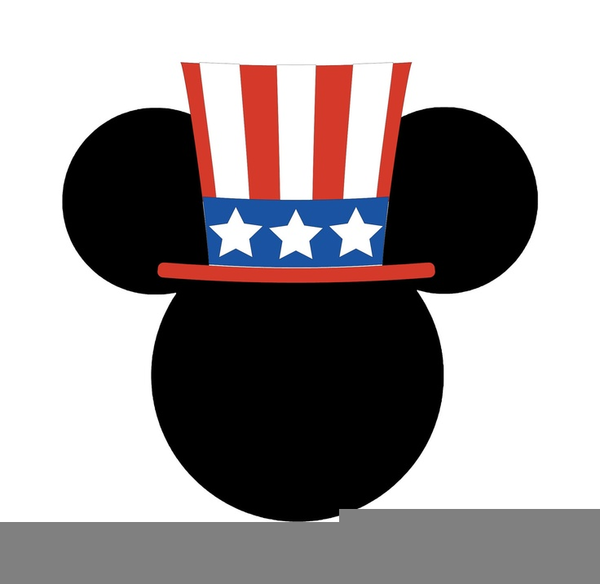Patriotic Mickey Mouse Clipart.
