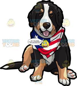 An American Patriotic Dog.