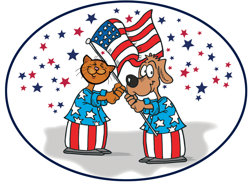 Patriotic Dog Clipart 14324.