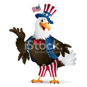Patriotic Eagle Uncle Sam premium clipart.