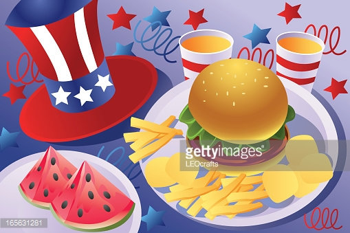 Patriotic Food Vector Art.