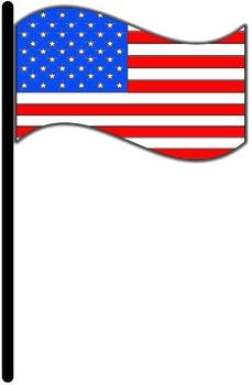 Patriotic Frames and American Flag Symbols Clipart.