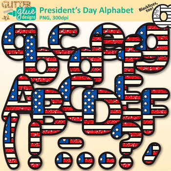 President\'s Day Alphabet Clip Art: Patriotic Graphics {Glitter Meets Glue}.
