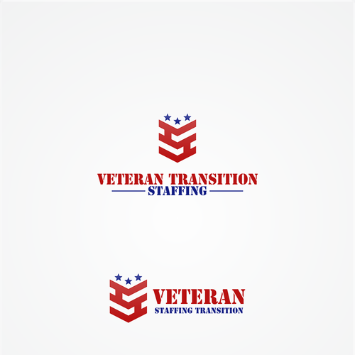 Create a patriotic logo for Veteran Transition Staffing.