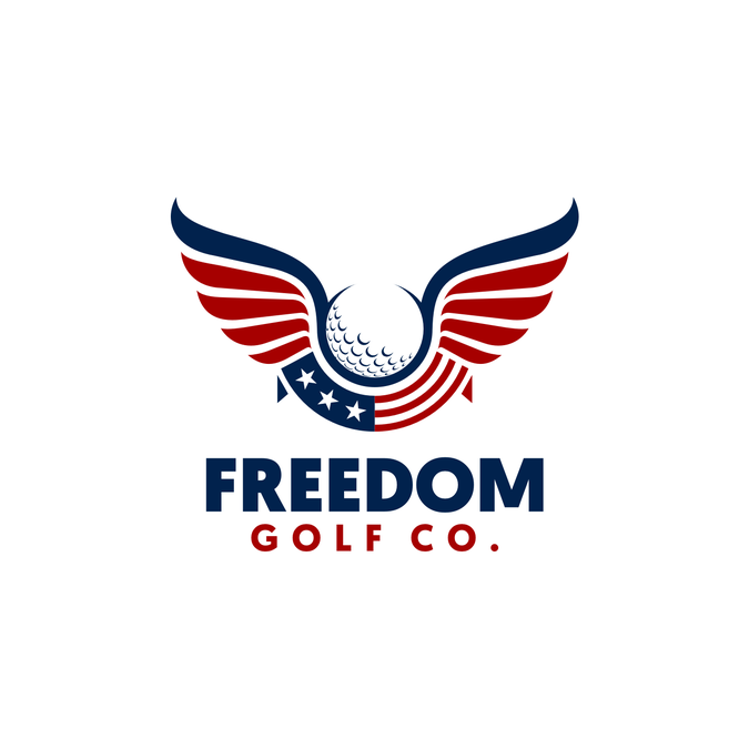Design a patriotic logo for golf apparel brand.
