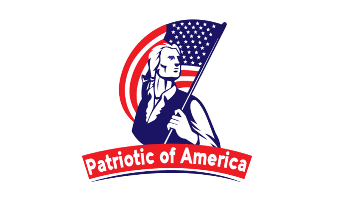 make american patriotic logo with my best skill.