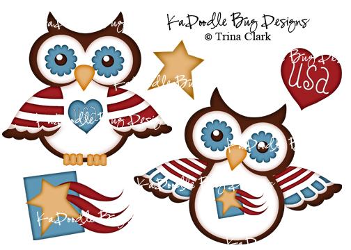 Patriotic Owls.