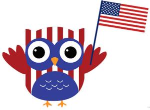 patriotic owl.
