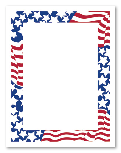 Patriotic Rectangle Clipart.