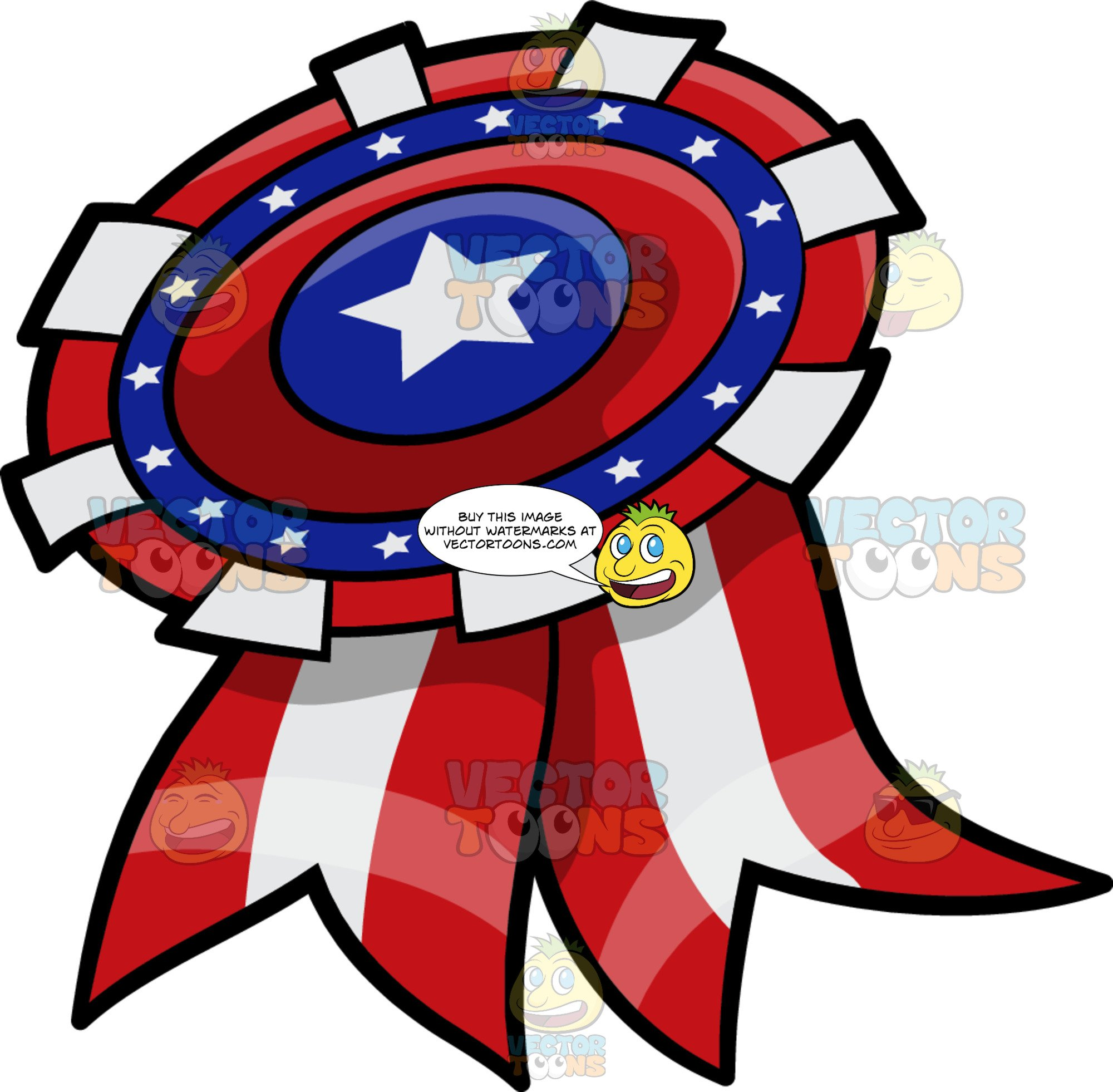 A Patriotic Ribbon Badge.
