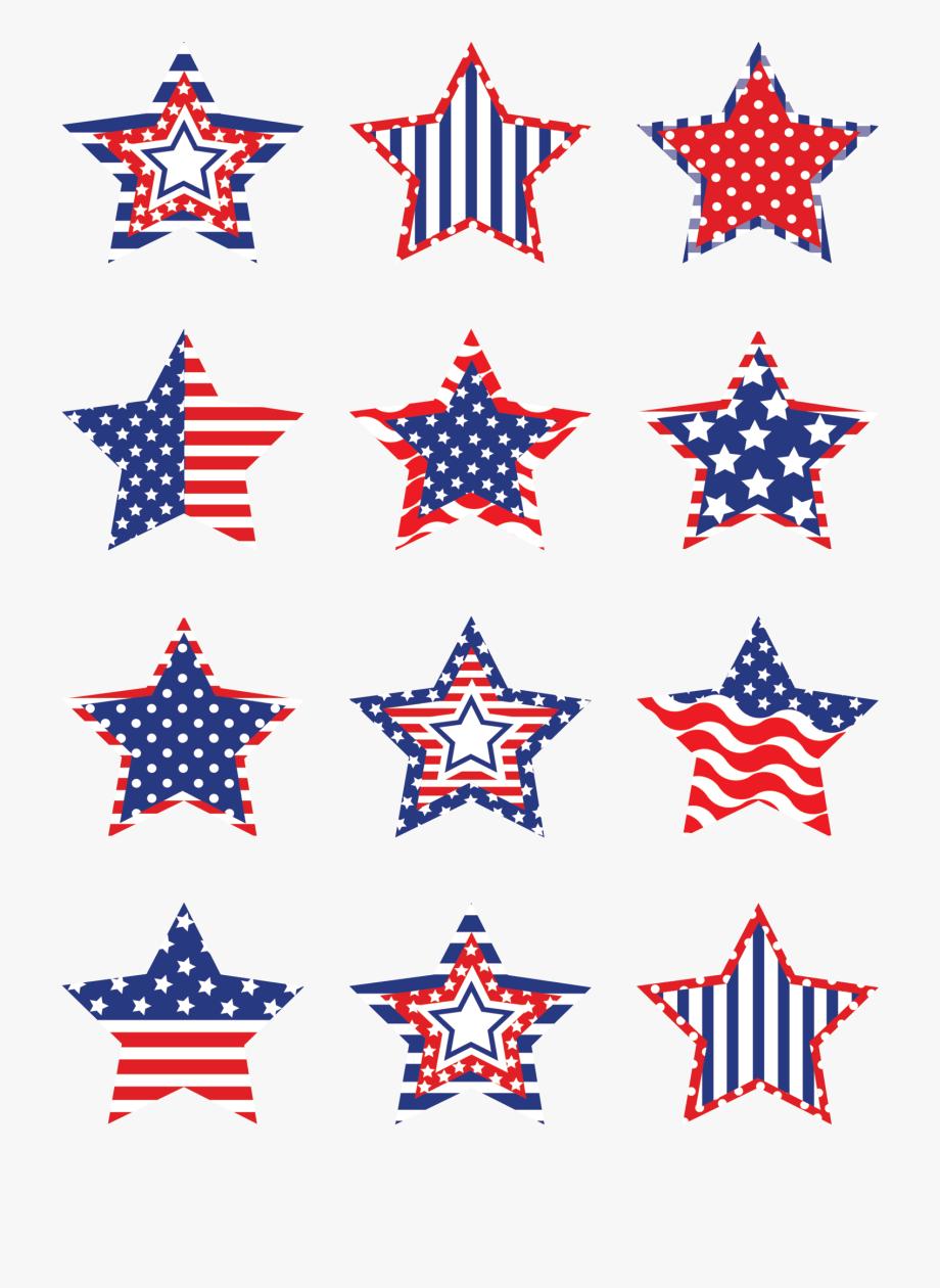 Patriotic Stars Mini Accents Labor Day Decorations.